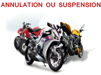 Assurance moto annulation ou suspension
